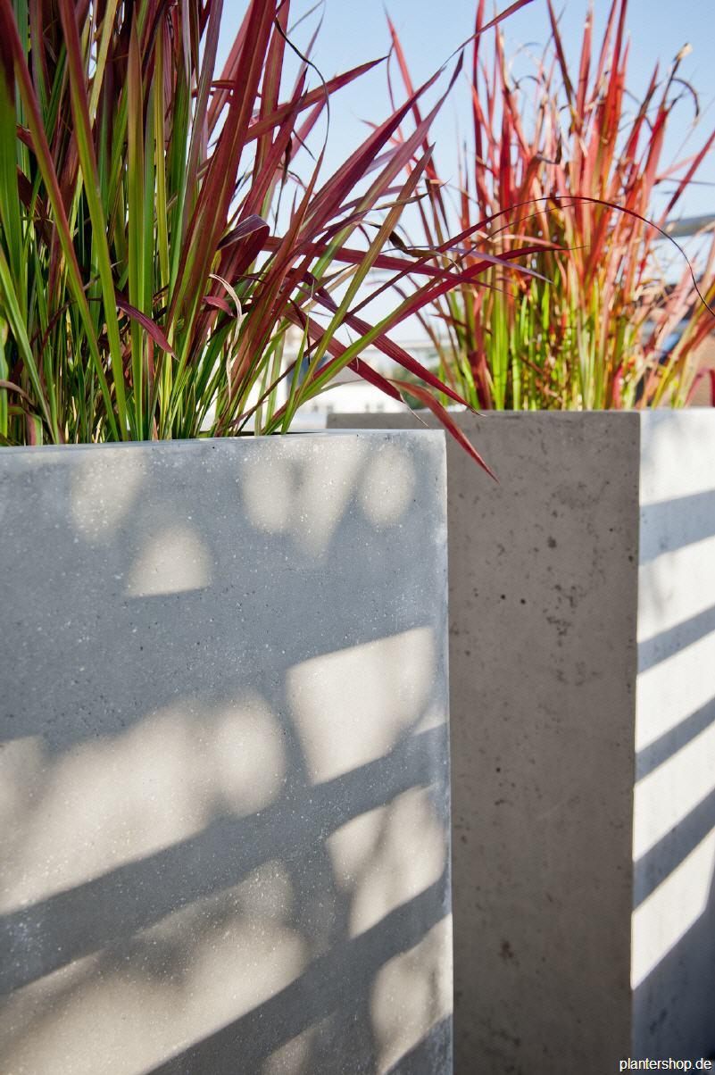 Schön Pflanzkübel, Blumenkübel, Pflanzgefässe in Beton- oder Sandsteinoptik XO14